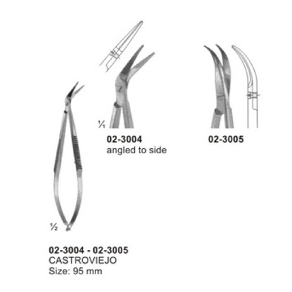 Micro Scissors Spring Type Flat Handle